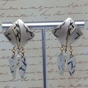 Signed Holly Yashi Earrings